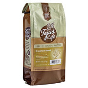 Tejas Cafe Breakfast Blend Light Roast Ground Coffee