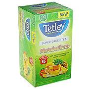 Tetley Super Green Tea Metabolism Tropical Flavor