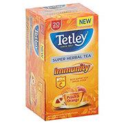 Tetley Super Herbal Tea Immunity Peach & Orange Flavor