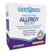 TexaClear Allergy Relief Tablets
