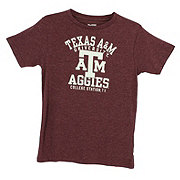 Texas A&M Youth's Heathered Crew Neck Tee