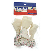 Texas Lone Star Smoke Rawhide 4 Inch Roll Dipped Knot Bone