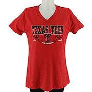 Texas Tech Women's Heathered V-Neck T-Shirt