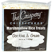 The Crispery Crispycakes Marshmallow Rice Treats, Cookies & Cream