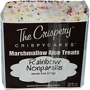 The Crispery Crispycakes Rainbow Non Pareils Marshmallow Rice Treats