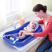 The First Years Sure Comfort Deluxe Bath Tub Blue