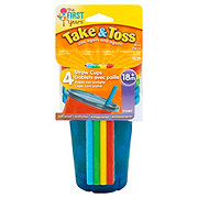 The First Years Take & Toss 10 OZ Straw Sippers, Assorted Colors
