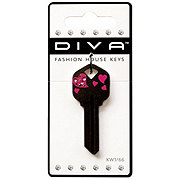 The Hillman Group Diva Fashion Tail Heart Key KW1/66