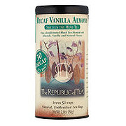 The Republic of Tea Decaf Vanilla Almond Black Tea Bags