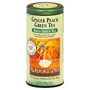 The Republic of Tea Ginger Peach Green Tea Bags