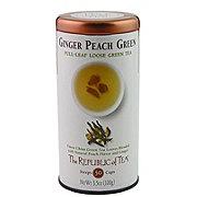 The Republic of Tea Loose Leaf Ginger Peach Green
