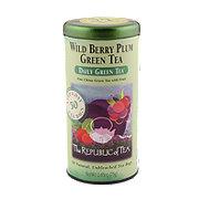 The Republic of Tea Wild Berry Plum Green Tea Bags