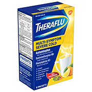 Theraflu Multi-symptom Severe Cold Green Tea And Honey Lemon Flavors Packets