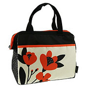 Thermos Orange Poppy Flowers Tote