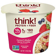 thinkThin Protein & Fiber Farmers Market Berry Crumble Oatmeal Bowl