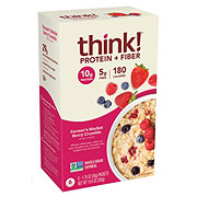 thinkThin Protein & Fiber Farmers Market Berry Crumble Oatmeal Pouches