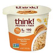 thinkThin Protein & Fiber Honey Peanut Butter Oatmeal Bowl