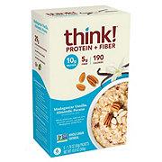 thinkThin Protein & Fiber Madagascar Vanilla Oatmeal Pouches