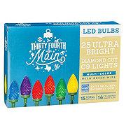 Thirty Fourth & Main 25 Multicolored LED Ultra Bright Diamond Cut C9 Lights