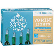 Thirty Fourth & Main 70 Cool White LED Mini-Style Lights