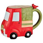 Thirty Fourth & Main Ceramic Christmas 3D Truck Mug 20 OZ