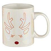 Thirty Fourth & Main Christmas Sparkle Reindeer Mug
