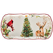 Thirty Fourth & Main Christmas Stoneware Rectangle Platter