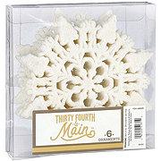 Thirty Fourth & Main Snowflake Ornaments Silver White