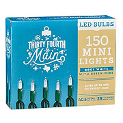 Thirty Fourth And Main 150 Cool White LED Mini-Style Lights