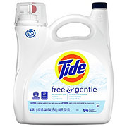 Tide Free and Gentle HE Turbo Clean Liquid Laundry Detergent, 96 Loads