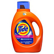 Tide Fresh Coral Blast HE Liquid Laundry Detergent, 64 Loads