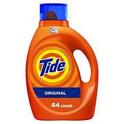 Tide Original Scent Turbo Clean HE Liquid Laundry Detergent, 64 Loads