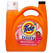 Tide Plus April Fresh with Downy Liquid Detergent, 72 Loads