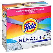 Tide Plus Bleach Original Scent Powder Laundry Detergent 80 Loads