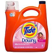Tide Plus Downy April Fresh Scent Turbo Clean HE Liquid Laundry Detergent, 72 Loads