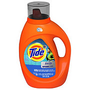 Tide Plus Febreze Sport Odor Defense Active Fresh Scent HE Turbo Clean Liquid Laundry Detergent 48 Loads