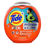 Tide PODS Active Fresh Scent Plus Febreze Sport Odor Defense HE Laundry Pacs