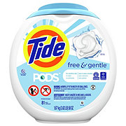 Tide PODS Free & Gentle HE Liquid Laundry Detergent Pacs