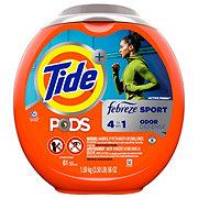Tide PODS HE Active Fresh Scent Plus Febreze Sport Odor Defense Laundry Pacs