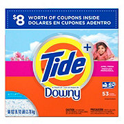 Tide Touch of Downy April Fresh Scent HE Powder Laundry Detergent 53 Loads