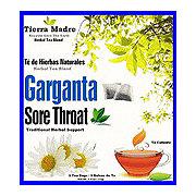 Tierra Madre Sore Throat Tea Te De Garganta Tea Bags