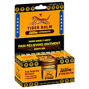 Tiger Balm Ultra Strength Pain Relieving Ointment Concentrated Sports Rub