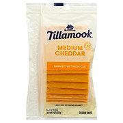 Tillamook Medium Cheddar Cheese, Thick Slices