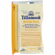 Tillamook Medium White Cheddar Slices