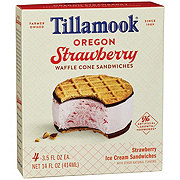 Tillamook Oregon Strawberry Ice Cream Sandwich