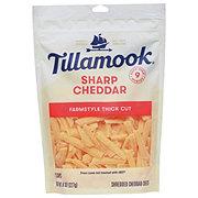 Tillamook Sharp Cheddar Cheese, ThickShredded