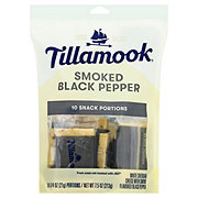 Tillamook Smoked Black Pepper White Cheddar Cheese Snacks