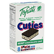 Tofutti Cuties Mint Chocolate Chip  Snack Size Sandwiches