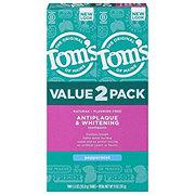 Tom's of Maine Antiplaque & Whitening Peppermint Toothpaste 2 pk