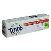 Tom's of Maine Fluoride-Free Propolis & Myrrh Spearmint Toothpaste